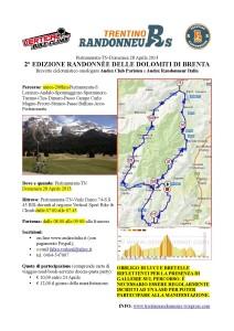 Randonnée Dolomiti di Brenta, 28-04-2013