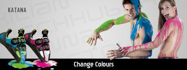 La Katana cambia colore